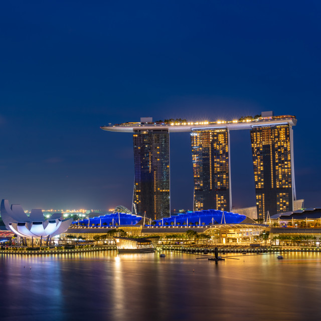 """Marina Bay Sand Casino Hotel Downtown Singapore"" stock image"