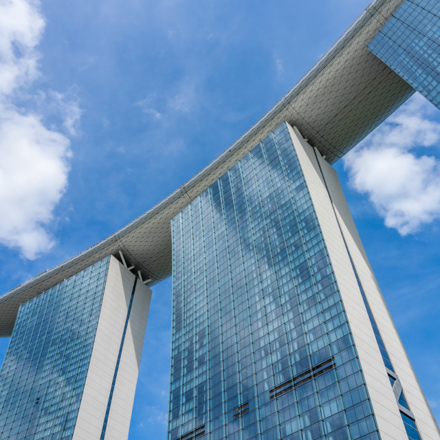 """Marina Bay Sands at night the largest hotel in Asia."" stock image"
