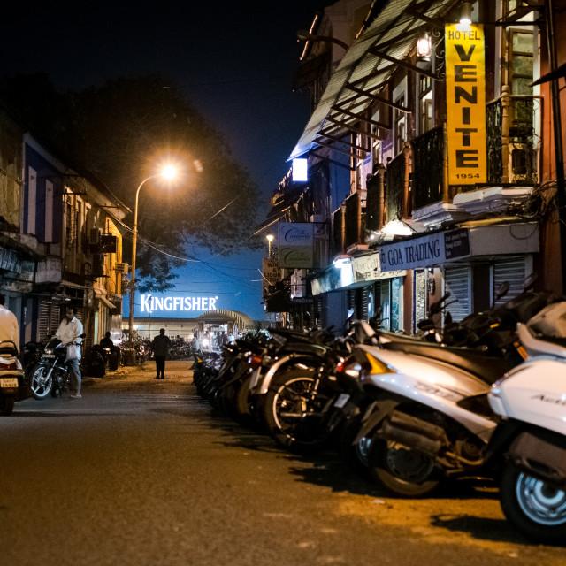 """""""Panjim Street"""" stock image"""