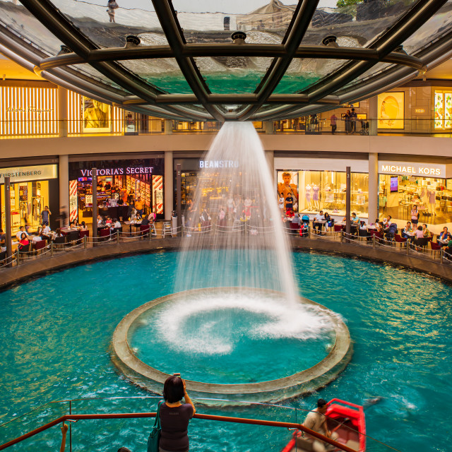 """The Shoppes at Marina Bay shopping mall in Singapore"" stock image"