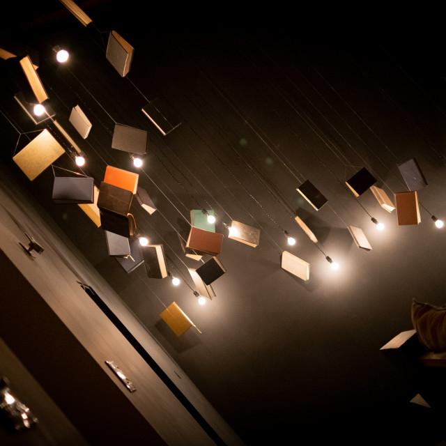 """Hanging Books"" stock image"