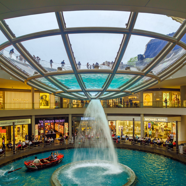 """Marina bay Sands shopping mall"" stock image"