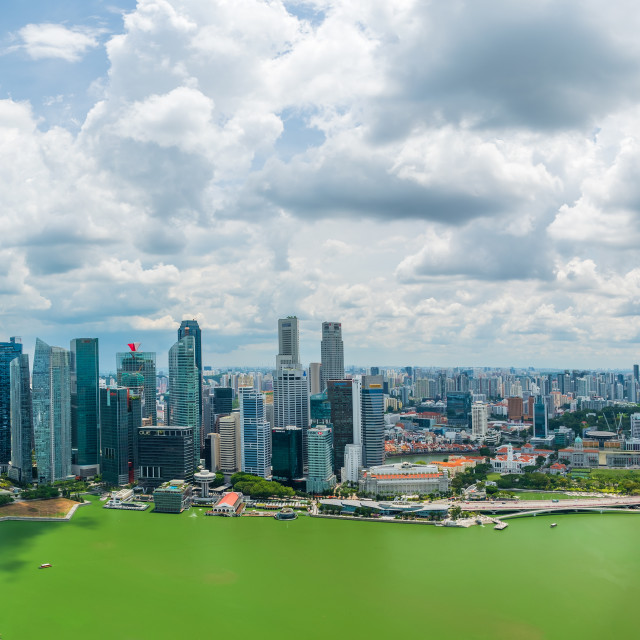 """The Singapore Skyline"" stock image"