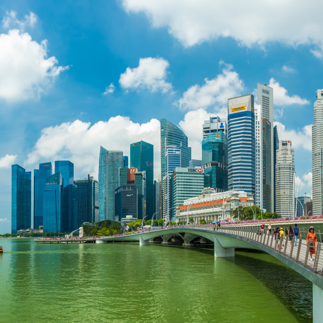 """View at Singapore City Skyline"" stock image"