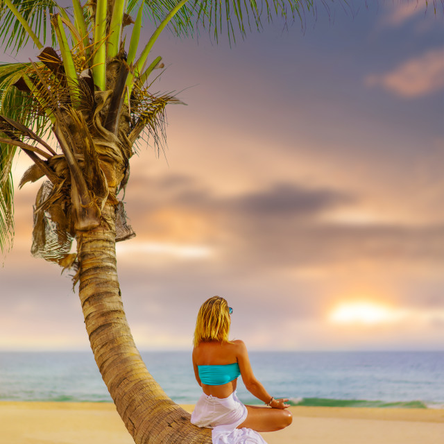"""""""Woman at the beach in Thailand"""" stock image"""