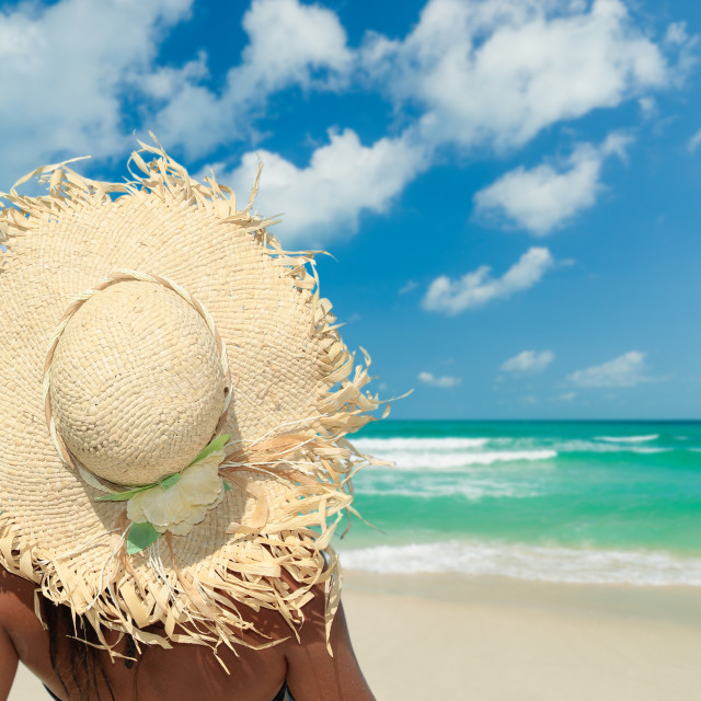 """""""Woman on the beach"""" stock image"""