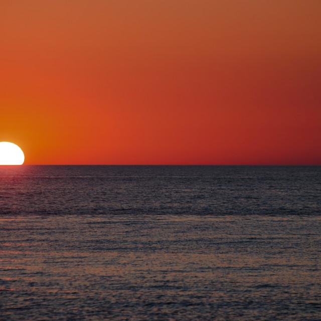 """Sunset n.1 (tramonto di Sardegna)"" stock image"