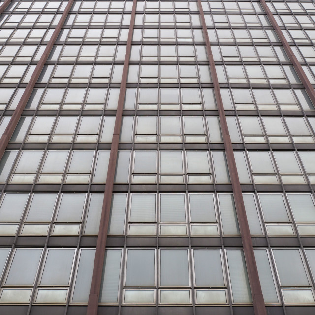 """modern steel and glass facade"" stock image"