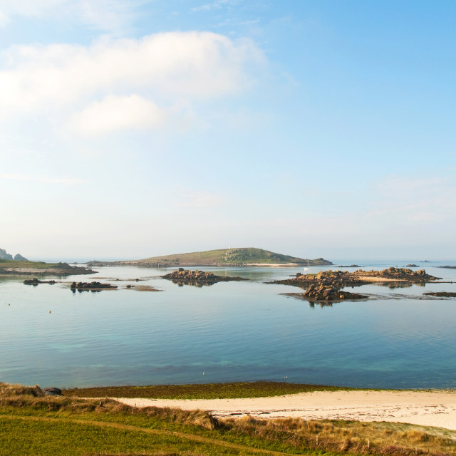 """""""Summer in the Scillies"""" stock image"""