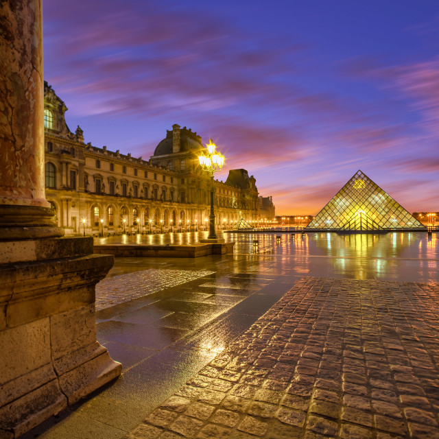 """Louvre Museum in Paris France"" stock image"