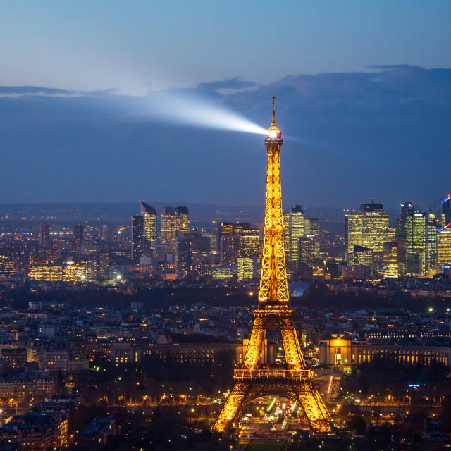 """""""Paris by night"""" stock image"""