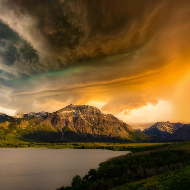 """Storm on Vimy"" stock image"