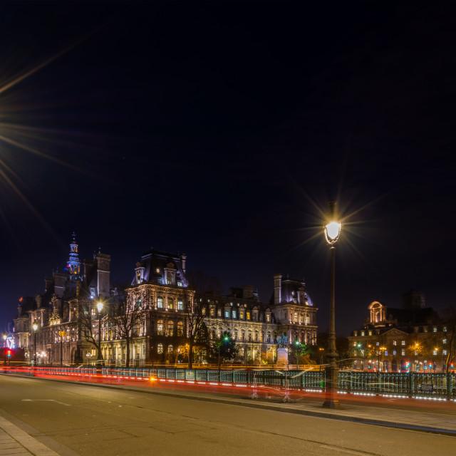 """""""View on Paris at night"""" stock image"""