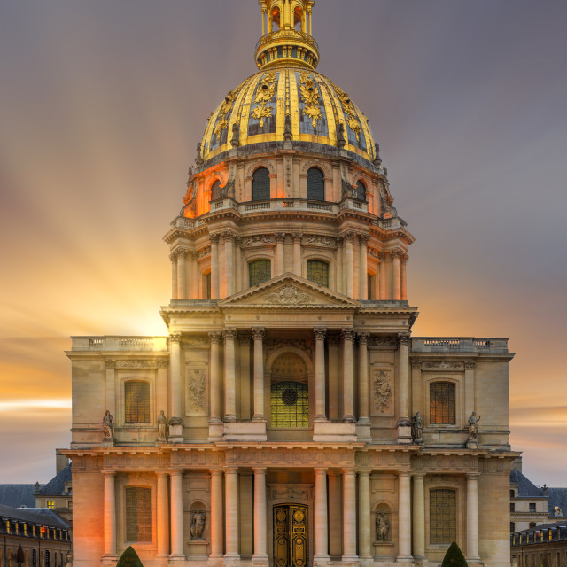 """Hotel des Invalides in Paris France final resting place of Napoleon Bonaparte"" stock image"
