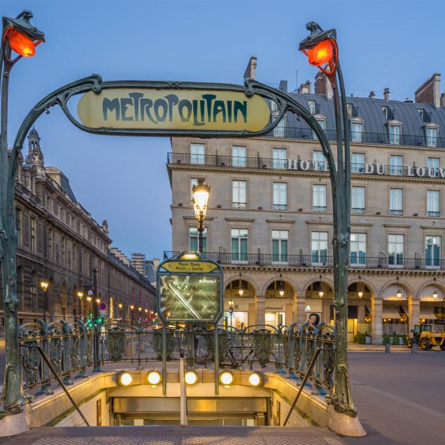 """""""Paris Metropolitain entrance"""" stock image"""