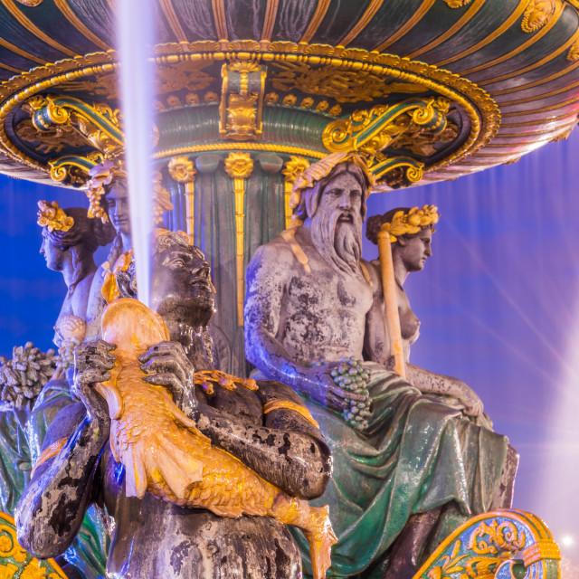 """""""Fontaine Place de la Concorde in Paris"""" stock image"""