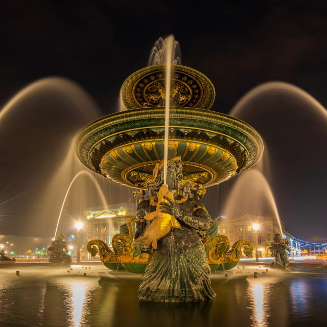 """""""Fontaine Place de la Concorde in Paris France"""" stock image"""