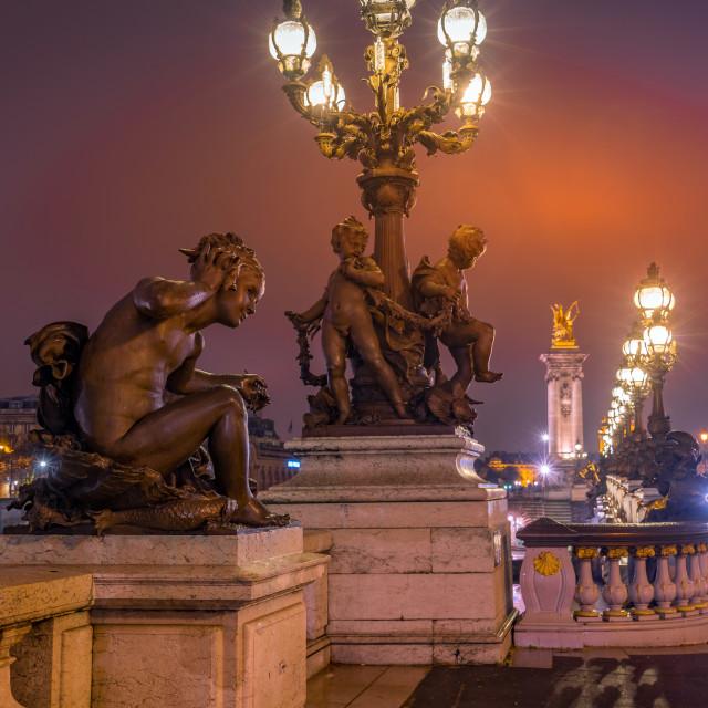 """""""Bridge in Paris France"""" stock image"""