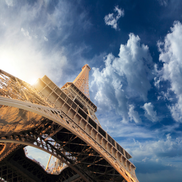 """The Eiffel tower Paris France"" stock image"