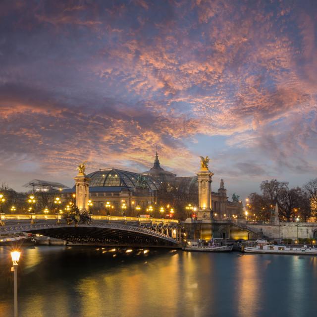 """Bridge of the Alexandre III, Paris"" stock image"
