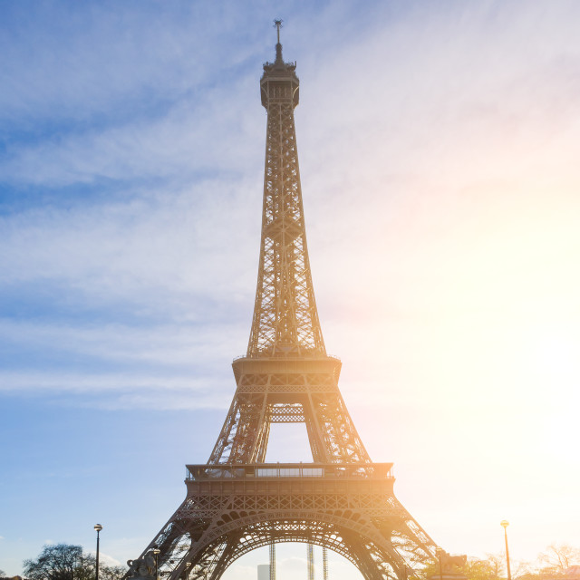 """""""The Eiffel tower is one of the most recognizable landmarks in th"""" stock image"""