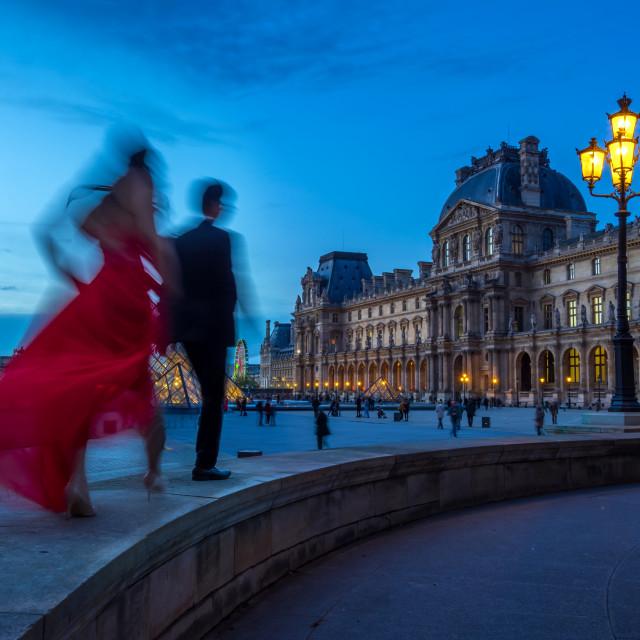 """Louvre Museum in Paris France"" stock image"