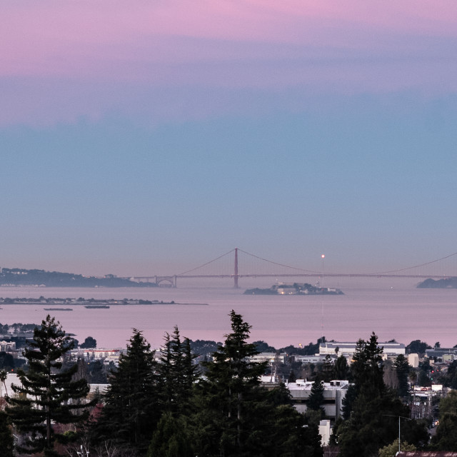 """My World - San Francisco's Golden Gate Bridge FRom Berkeley"" stock image"