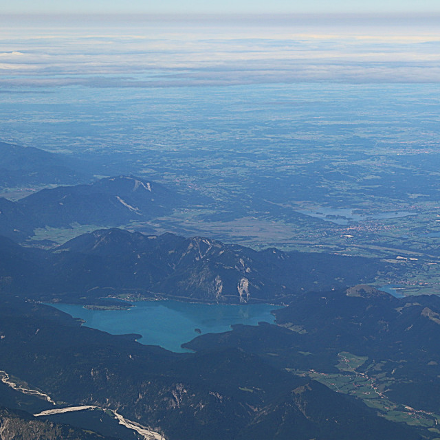 """Austria - Achensee aerial view"" stock image"