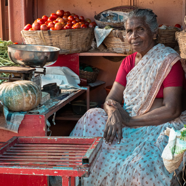 """""""Vegetables Seller"""" stock image"""