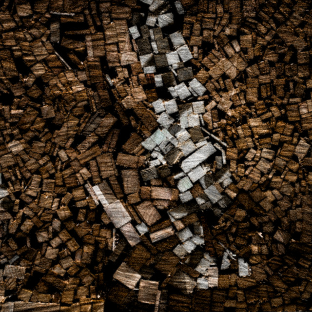 """The Woodpile"" stock image"