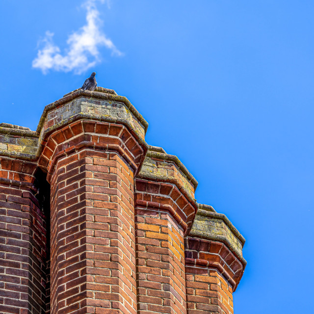 """Silver Street Chimney Tops, Cambridge UK."" stock image"