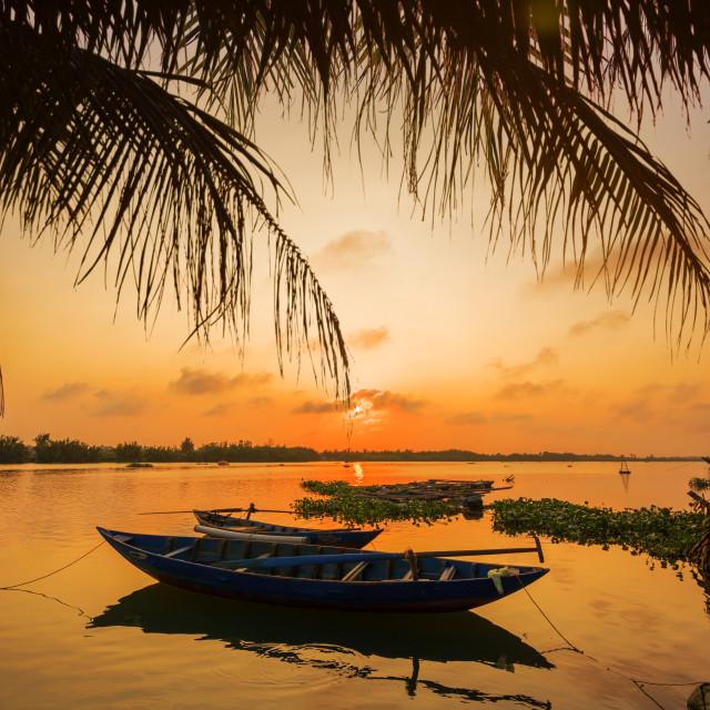 """Vinh Cura Dai river in Hoi An Vietnam"" stock image"