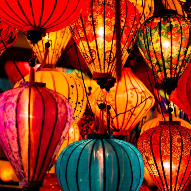 """Traditionnal lantern in Hoi An vietnam"" stock image"