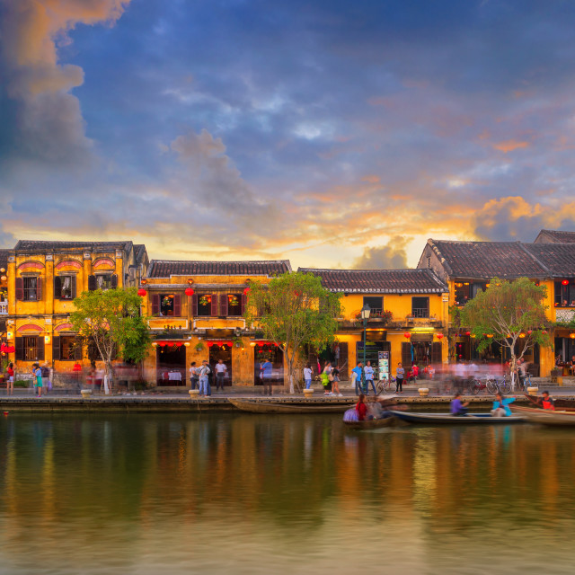 """""""Hoi An Ancient Town riverside view"""" stock image"""