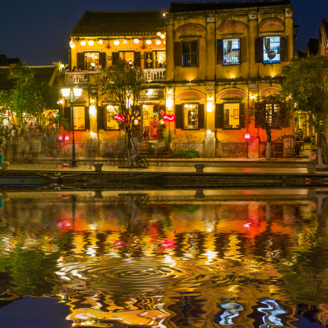 """Tourist landmark of the city Hoi An. Vietnam"" stock image"