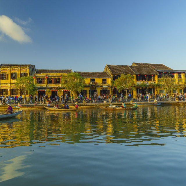 """""""the promenade town of Hoi An"""" stock image"""