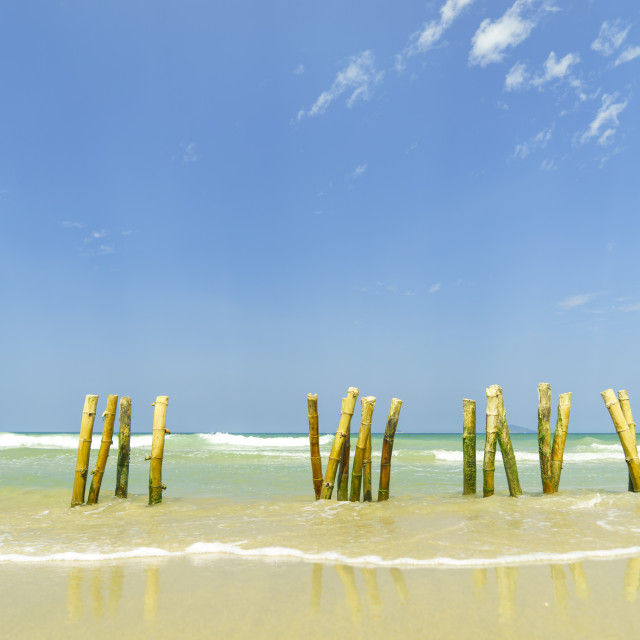 """beach in Hoi An Vietnam"" stock image"