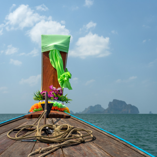 """Traditional long-tail boat in Thailand"" stock image"