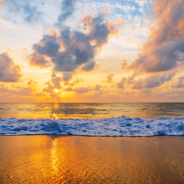 """Sunset at the beach in Samui"" stock image"