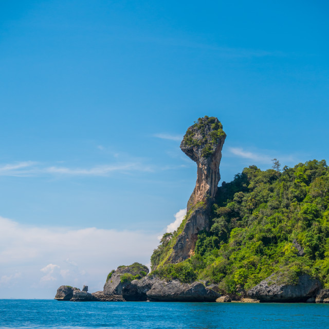 """Chicken island in Krabi Thailand"" stock image"
