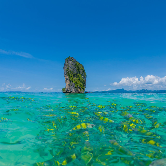 """Poda Beach in Krabi Thailand"" stock image"