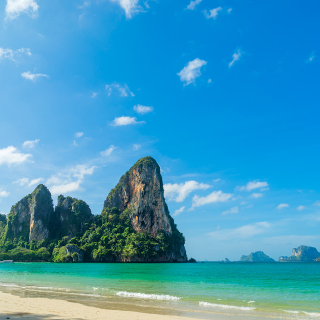 """Railay West beach in Ao Nang, Krabi Thailand"" stock image"
