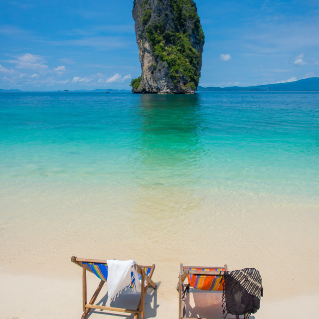 """chair on the beautiful beach"" stock image"
