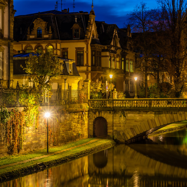 """""""Strasbourg Alsace France. Traditional half timbered houses"""" stock image"""