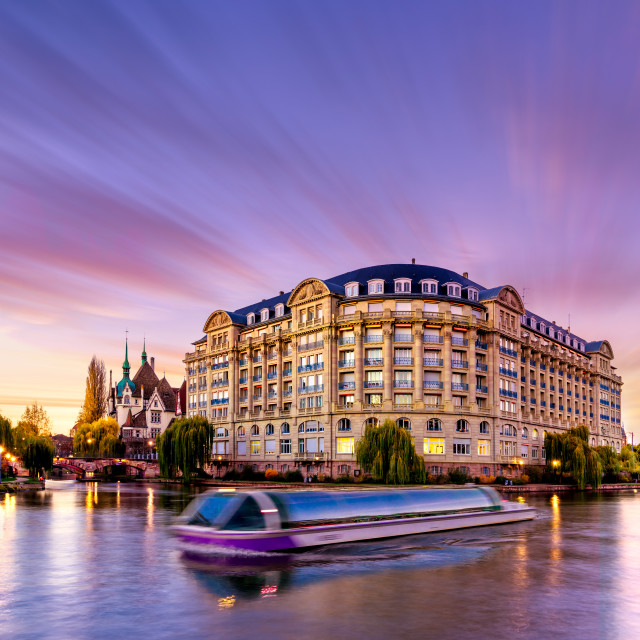"""""""View of Strasbourg France the river"""" stock image"""