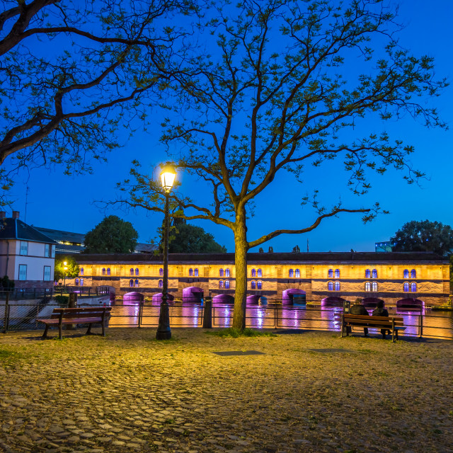 """Tourist area ""Petite France"" in Strasbourg, France"" stock image"