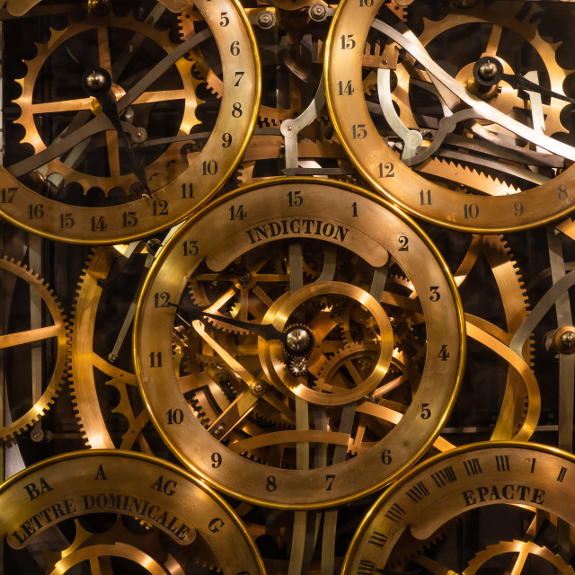 """""""astronomical clock in Strasbourg Cathedral"""" stock image"""