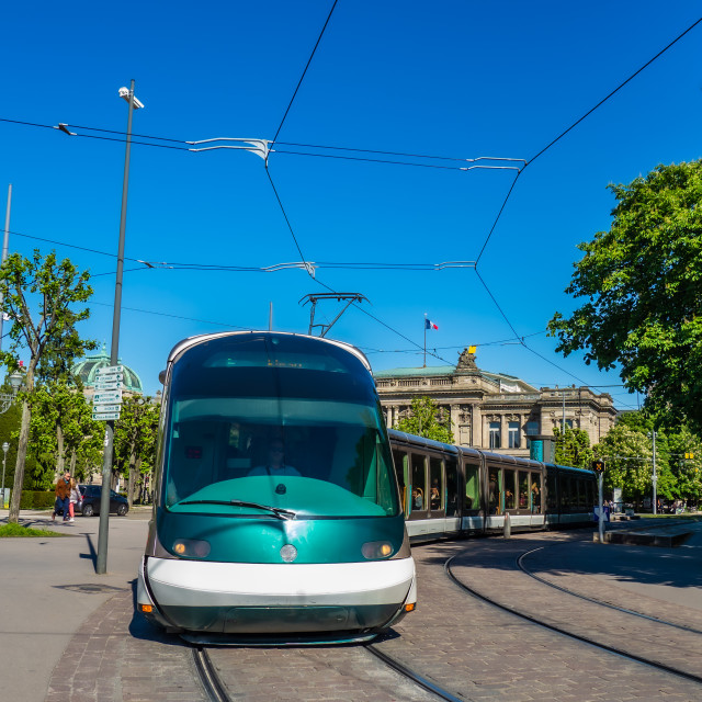 """""""Tramway in Strasbourg Alsace France"""" stock image"""