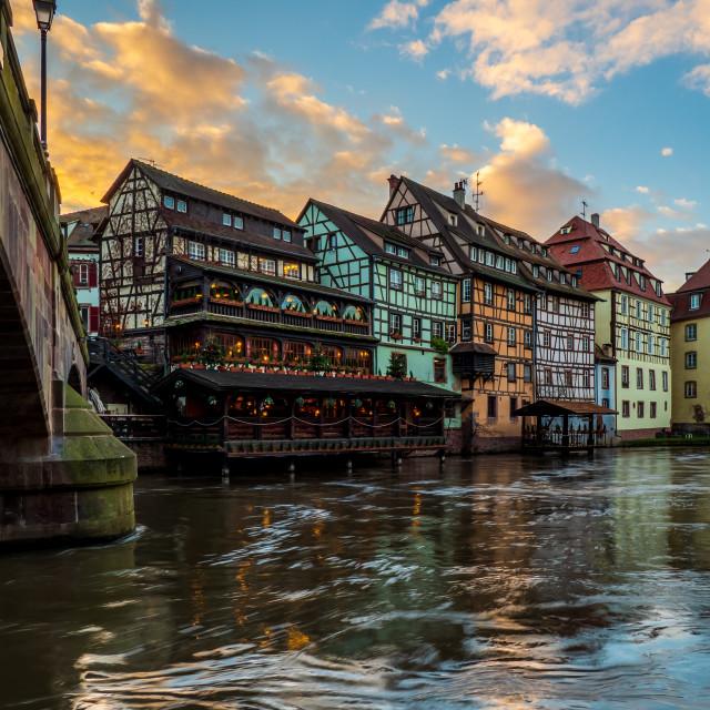 """""""Petite France area in Strasbourg"""" stock image"""