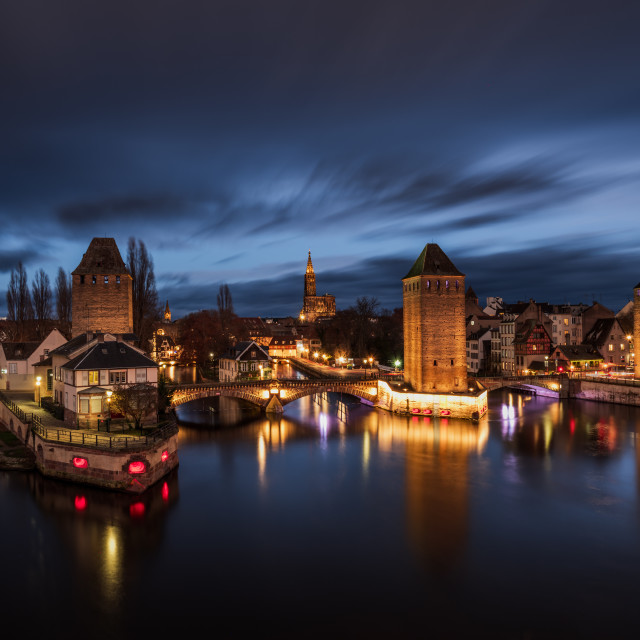 """""""Ponts couverts in Strasbourg France"""" stock image"""
